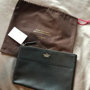 kate spade • leather pouch •